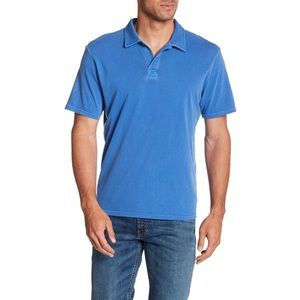 Threads 4 Thought Blue Dune Short Sleeve Mens Polo